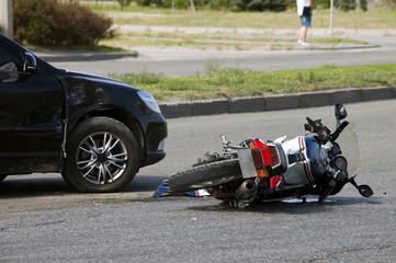Expertise deux roues à la suite d'une collision à Lagon